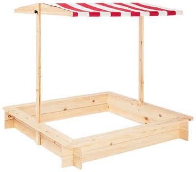 Pinolino® Sandkasten »Leonie«, 120x120 cm, mit Dach