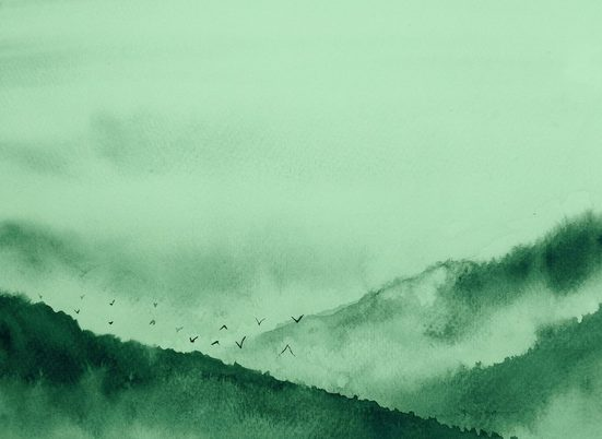 living walls Fototapete »Designwalls Gloomy Landscape 2«, glatt, (5 St)