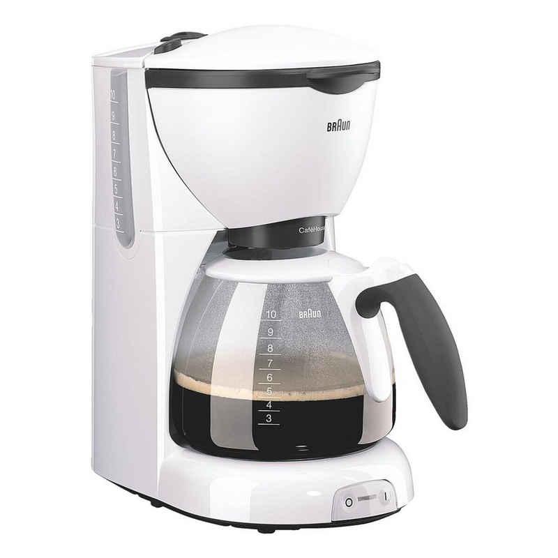 Braun Filterkaffeemaschine CaféHouse PurAroma KF520/1, mit Glaskanne und abnehmbarem Kaffeefilter