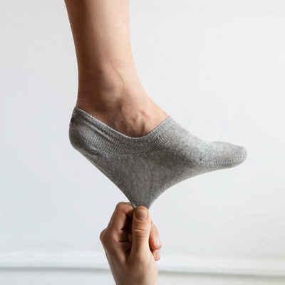 SNOCKS Füßlinge »Invisible Socks Sneaker Socken Damen & Herren« (6-Paar) aus Bio-Baumwolle, rutschfest und unsichtbar
