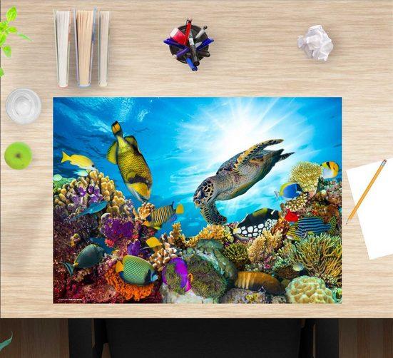 cover-your-desk.de Schreibtischaufsatz »Schreibtischunterlage für Kinder – Unterwasserwelt – 60 x 40 cm – aus hochwertigem Vinyl«, (1-St)
