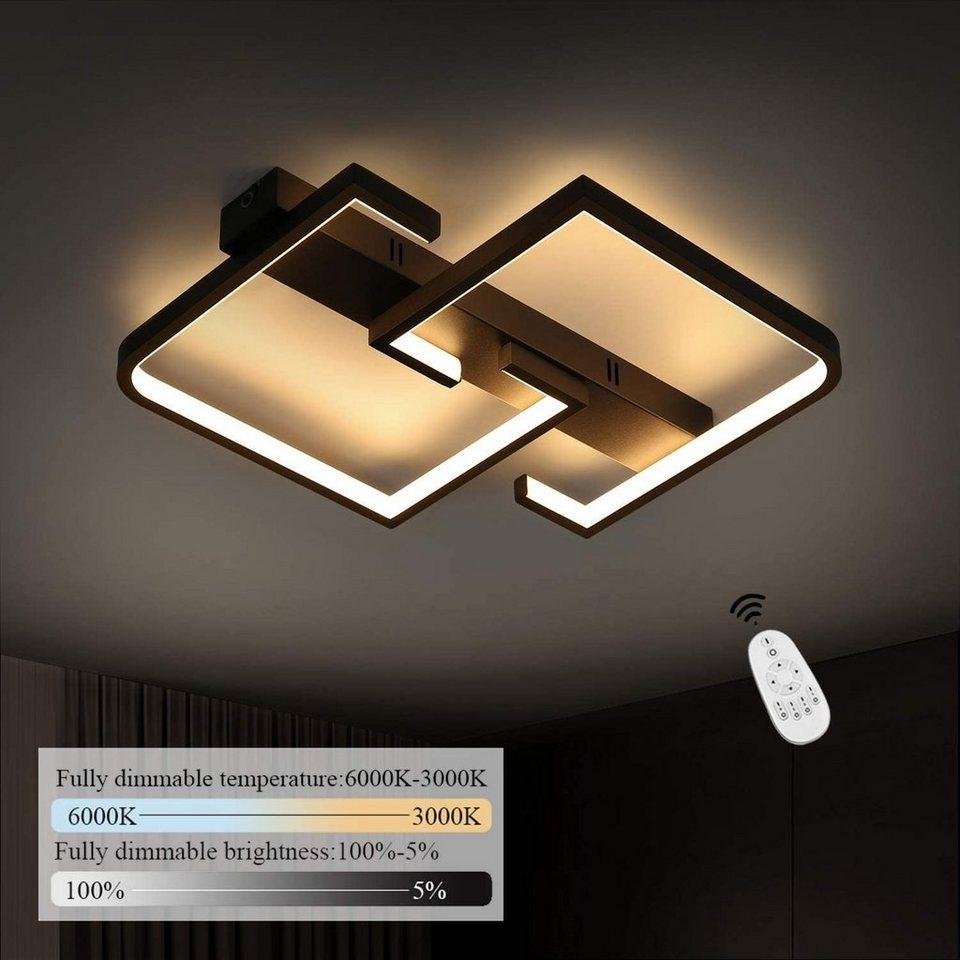 ZMH LED Deckenleuchte »Deckenlampe dimmbar mit Fernbedienung 35W schwarze für Schlafzimmer Küche ...