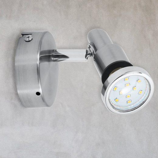 B.K.Licht LED Deckenspot »Aurel 1«, LED Wandleuchte Deckenleuchte schwenkbar 5W 400lm 3.000K GU10 IP44 Badezimmerlampe