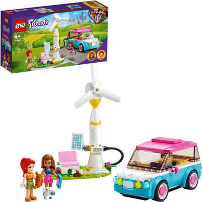 LEGO® Konstruktionsspielsteine »Olivias Elektroauto (41443), LEGO® Friends«, (183 St), Made in Europe