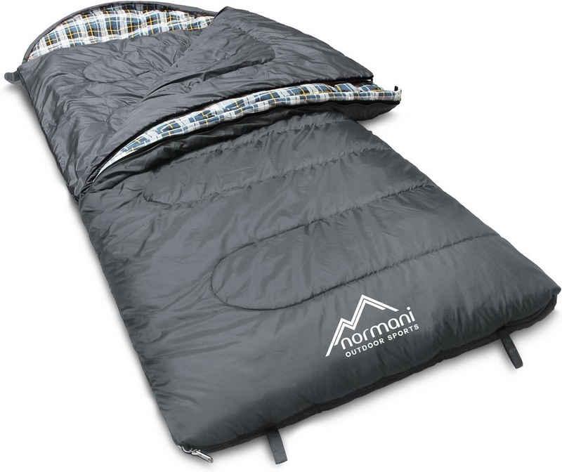 normani Deckenschlafsack »Outdoor-Schlafsack Extrem 4-In-1 Antarctica«, bis -40°C 500 + 250 g/m² Füllung