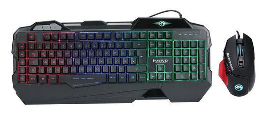 MARVO Gaming Spar Set, RGB Maus, Tastatur, Mauspad »KG745, G981«