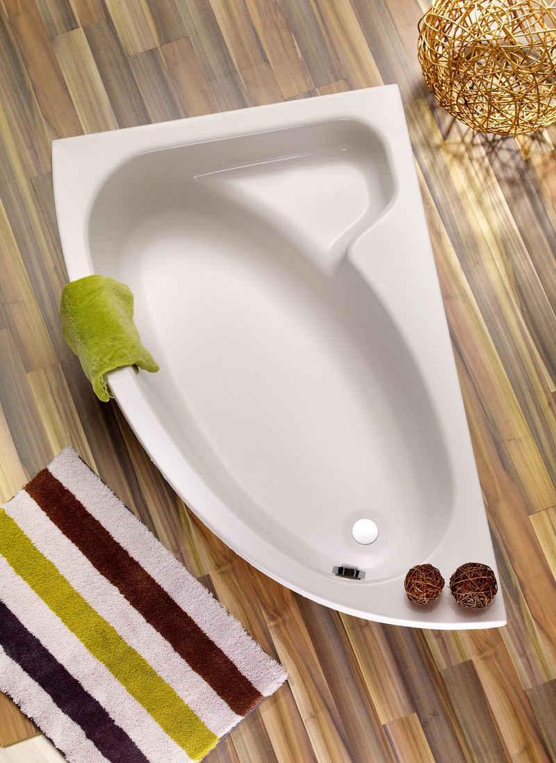 OTTOFOND Badewanne »Salinas«, (3-tlg), mit Wannenträger und Ablaufgarnitur