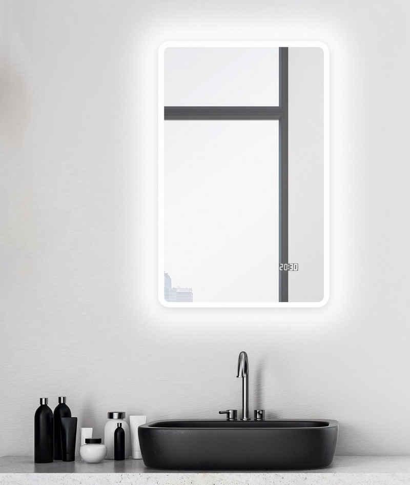 Talos Badspiegel »Sun«, BxH: 45x70 cm, energiesparend, mit Digitaluhr