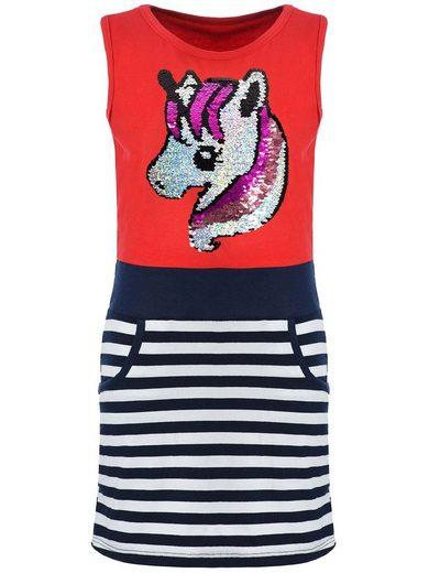 KMISSO Jerseykleid »Mädchen Sommer Kleid mit Wendepailletten« (1-tlg) bequem zu tragen, Kleid, Wende Pailletten
