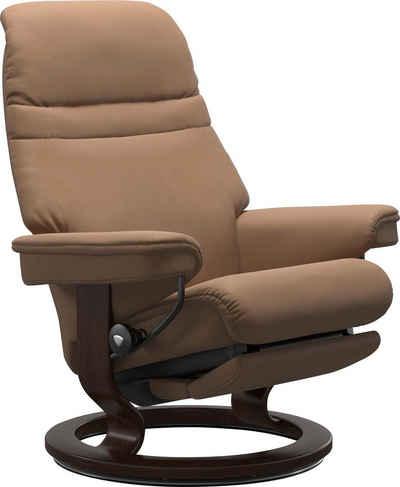 Stressless® Relaxsessel »Sunrise«, mit Classic Base und Power™, elektrisch verstellbar, optional 2-motorisch, Größe M & L, Gestell Braun