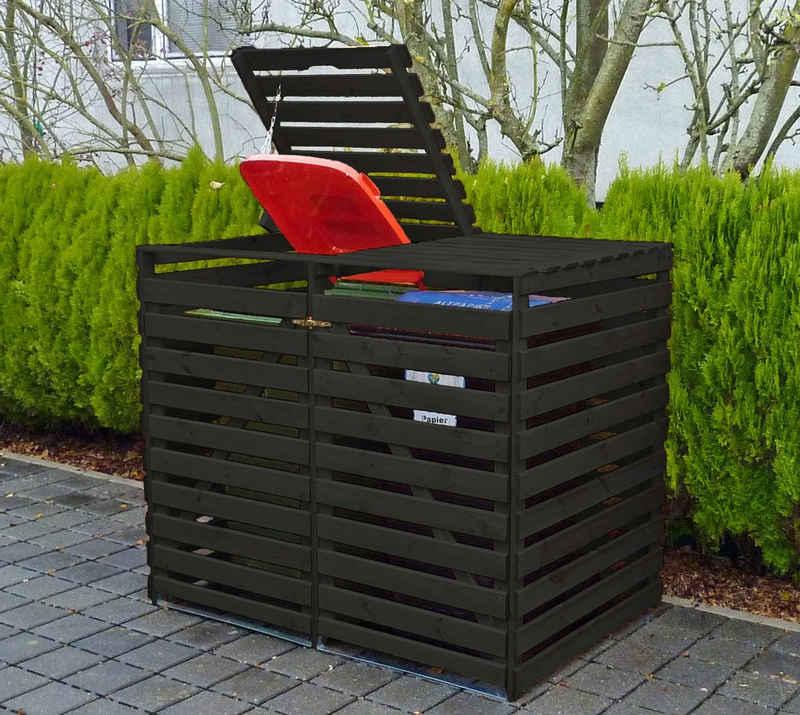 promadino Mülltonnenbox »Vario V«, für 2 x 240 l, anthrazit