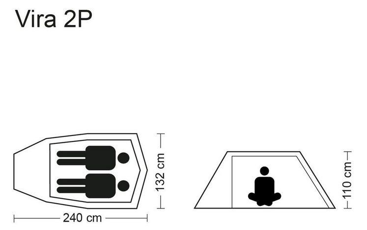 CAMPZ Zelt »Vira 2P Zelt«