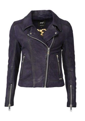 Байкер-стиль куртка кожаная с Leoprint...