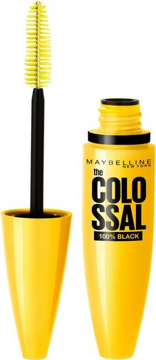 MAYBELLINE NEW YORK Mascara »Volum' Express The Colossal 100% Black«, Intensiv pflegende Collagen-Formel