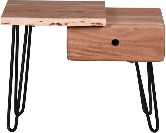 SIT Nachttisch »Edge«, aus Massivholz   Schlafzimmer > Nachttische   SIT