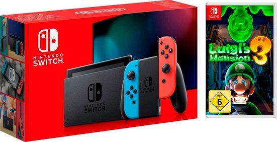 Nintendo Switch (neues Modell), inkl. Luigi's Mansion 3