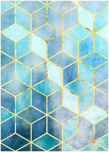 Komar Poster »Mosaik Azzuro«