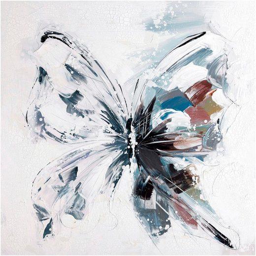Premium collection by Home affaire Gemälde »Butterfly«, Schmetterling, 100/100 cm
