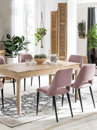 SIT Esstisch »Lakadee«, mit detailreichen Schnitzereien