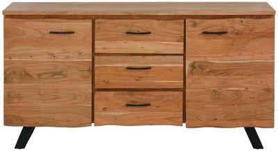 Quadrato Sideboard »Cantu«, aus Massivholz mit 3 Schubkästen und 2 Türen