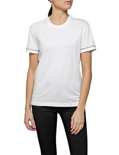 Replay T-Shirt mit modischem Glitzereinsatz