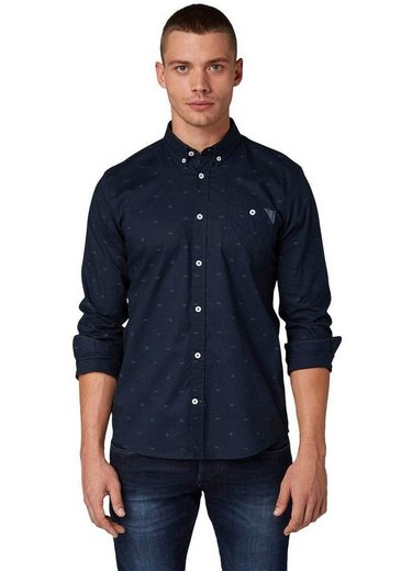 Schlussverkauf TOM TAILOR Langarmhemd mit Brusttasche
