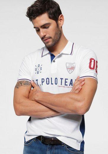 TOM TAILOR Polo Team Poloshirt mit großem Logoschriftzug