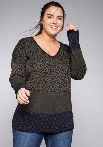 SHEEGO Пуловер с V-образным вырезом