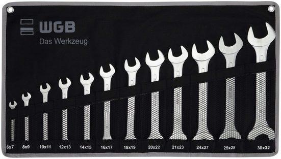WGB BASIC PLUS Maulschlüsselsatz 12-tlg. Doppelmaulschlüssel-Satz, Stahl