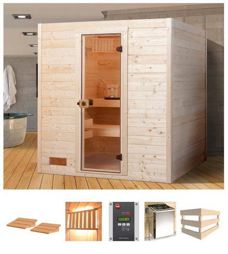 WEKA Sauna »Vaasa 2«, 189x172x204 cm, 7,5 kW Ofen mit ext. Steuerung