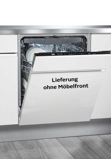 BEKO vollintegrierbarer Geschirrspüler, DIN16435, 9,5 l, 14 Maßgedecke, mit SteamGloss