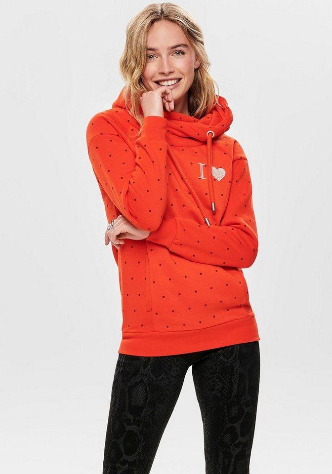 Damen Only Sweatshirt »MELINDA« orange, schwarz | 05714500193449