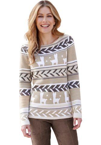 Пуловер в Norweger-Jacquard-Muster