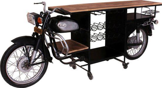 SIT Bartisch »This&That«, aus alten indischen Motorrädern gefertigt