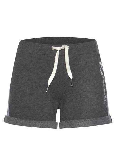 Hosen - Bench. Shorts mit Tapestreifen und Logodruck in Metalloptik › grau  - Onlineshop OTTO