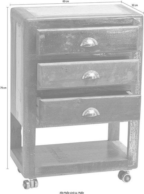 SIT Telefontisch »Fridge«, aus recyceltem Altholz | Flur & Diele > Telefontische | Bunt | SIT