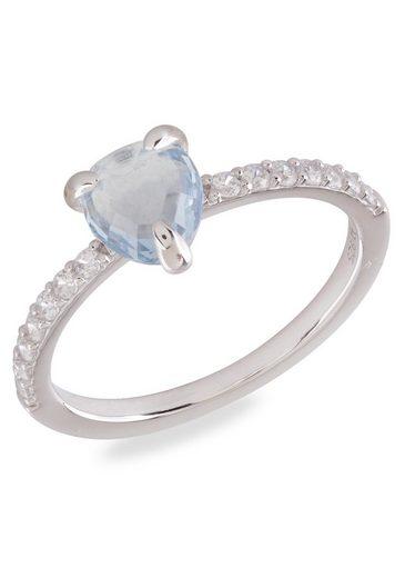 VILMAS Silberring »Crystal Drop, 4028146651500, 1494, 1487« mit Zirkonia