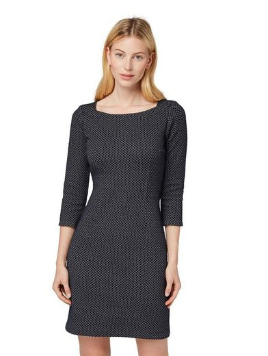 TOM TAILOR Jerseykleid im trendy Fischgrad-Look