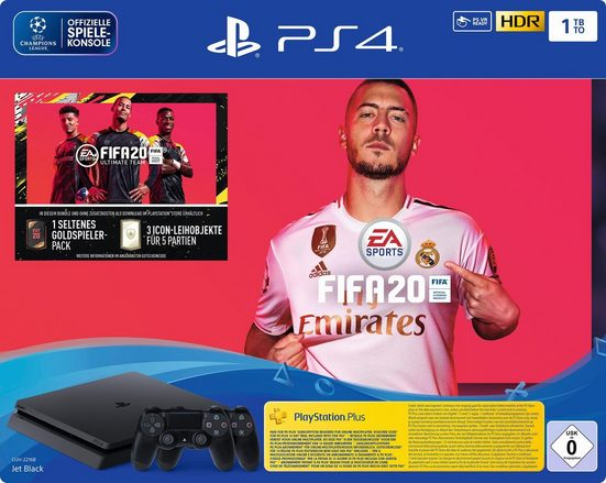 PlayStation 4 Slim (PS4 Slim) 1TB, inkl. Fifa20