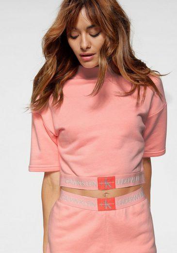 Calvin Klein Sweatshirt in Cropped-Form mit kurzen Ärmeln