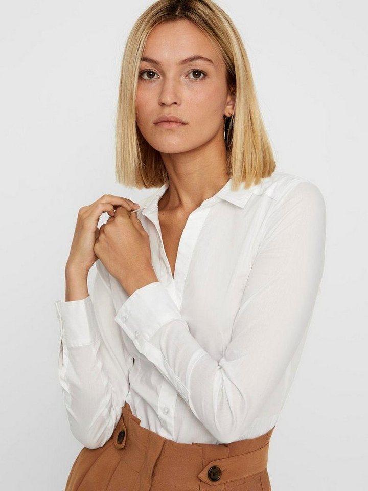 Vero Moda Blusenbody »LADY« | Unterwäsche & Reizwäsche > Bodies & Corsagen > Blusenbodys | Weiß | Vero Moda