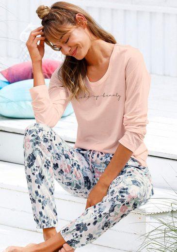 Vivance Dreams Pyjama mit Blumenmuster in Aquarelloptik
