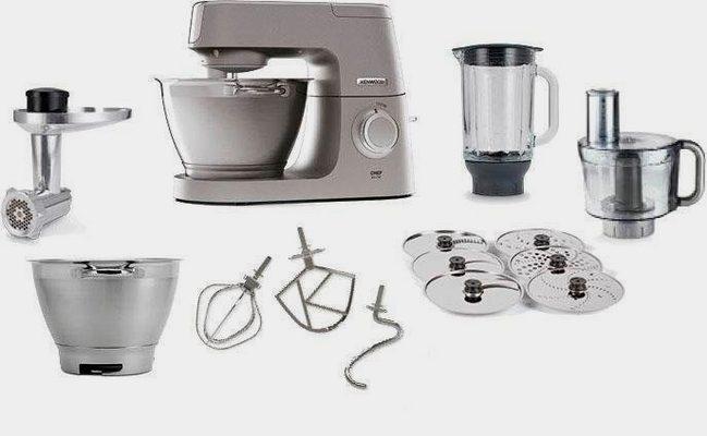 Küchenmaschine Chef Elite KVC5401S, 1200 W, 4,6 l Schüssel, 3tlg. Patisserie-Set Pro, inkl. Gratiszubehör im Gesamtwert von UVP € 339,97