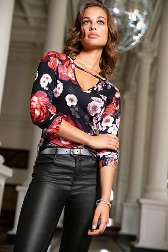 Melrose Langarmshirt mit Rosenprint