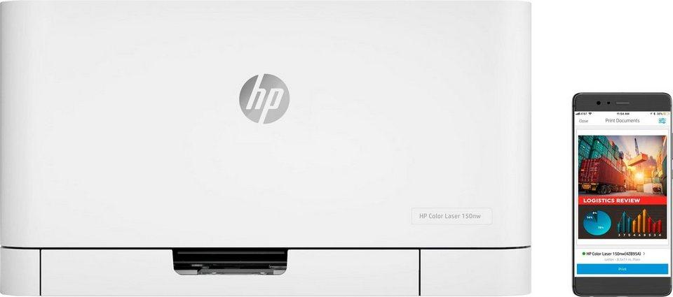 HP Color Laser 150nw: netzwerkfähiger Farblaserdrucker