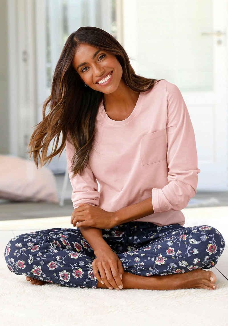 Vivance Dreams Pyjama mit gemusterter Schlafhose