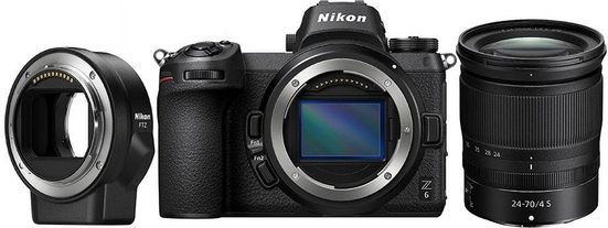 Nikon »Kit Z 6 24–70 mm 1:4 + FTZ« Systemkamera (NIKKOR Z 24–70 mm 1:4 S, 24,5 MP, Bluetooth, WLAN (Wi-Fi)