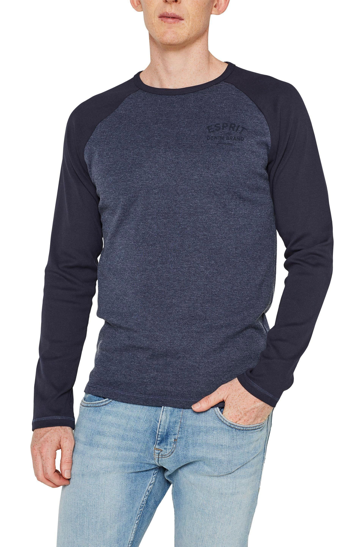 Esprit Langarmshirt mit Logo auf der Brust kaufen | OTTO