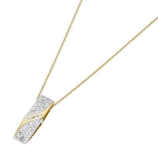 Luigi Merano Kette mit Anhänger »mit Diamanten, Gelbgold 585«