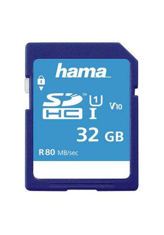 HAMA SDHC 32GB Class 10 UHS-I 80MB/s siaura...